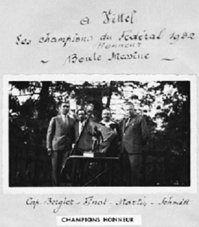 Champions Honneur 1932